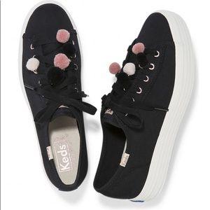 Keds Pom Pom triple kick sneakers